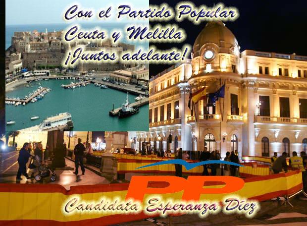 Precampaña del Partido Popular (PP) Ceuta-engalanada-copia