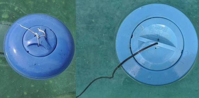 Do you have ideas for making a sturdy net leaf skimmer for Putting shock in pool