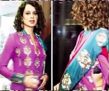 Kangana Ranaut wears torn Clothes in Public