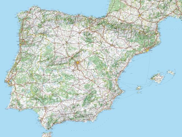 mapa actualizado de portugal Mapa España   Portugal actualizado.   Sektores mapa actualizado de portugal