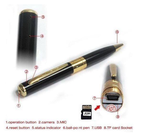 Ручка с Видеокамерой Spy Pen Camera Camcorder USB.  Шариковая ручка со встроенной видеокамерой 1.2Мп, 1280x960 (USB...