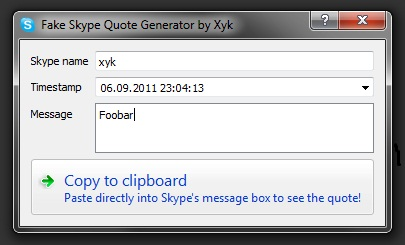 Skype Fake Quote